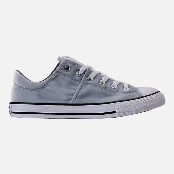 Right view of Girls' Grade School Converse Chuck Taylor Madison Ox Velvet Casual Shoes in Wolf Grey/Mason/White