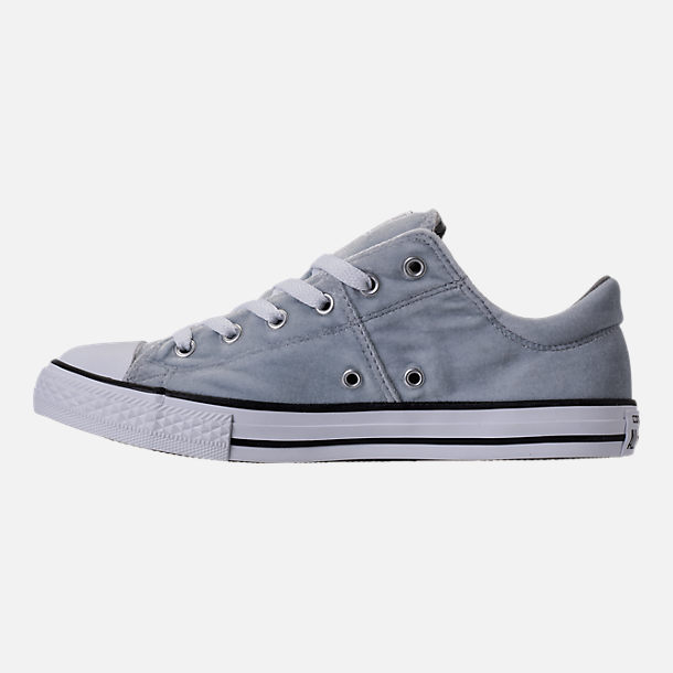 Left view of Girls' Grade School Converse Chuck Taylor Madison Ox Velvet Casual Shoes in Wolf Grey/Mason/White