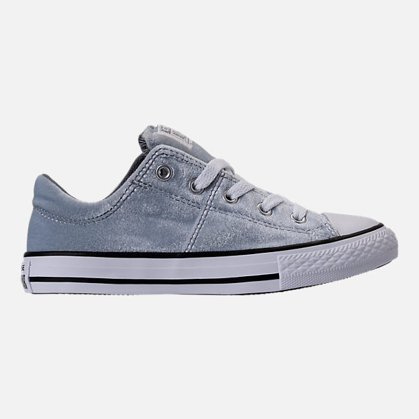 Right view of Girls' Preschool Converse Chuck Taylor Madison Ox Velvet Casual Shoes in Wolf Grey/Mason/White