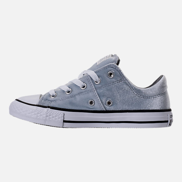 Left view of Girls' Preschool Converse Chuck Taylor Madison Ox Velvet Casual Shoes in Wolf Grey/Mason/White