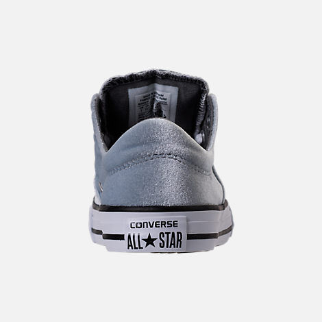 Back view of Girls' Preschool Converse Chuck Taylor Madison Ox Velvet Casual Shoes in Wolf Grey/Mason/White