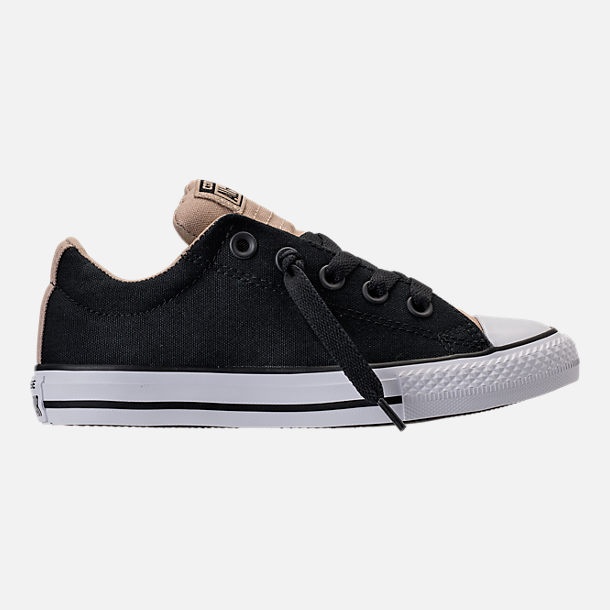 Right view of Boys' Preschool Converse Chuck Taylor All Star Street Casual Shoes in Vintage Khaki/Black/White