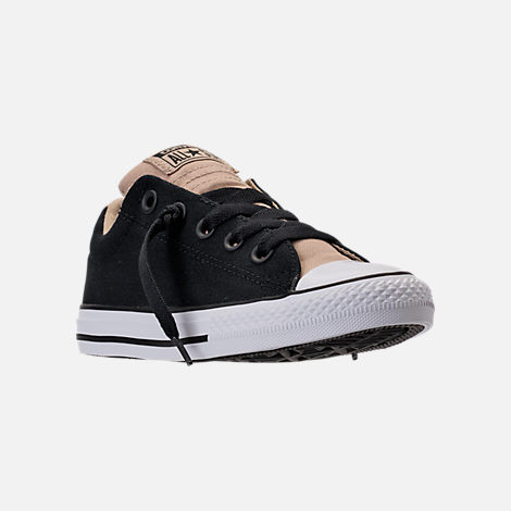Three Quarter view of Boys' Preschool Converse Chuck Taylor All Star Street Casual Shoes in Vintage Khaki/Black/White