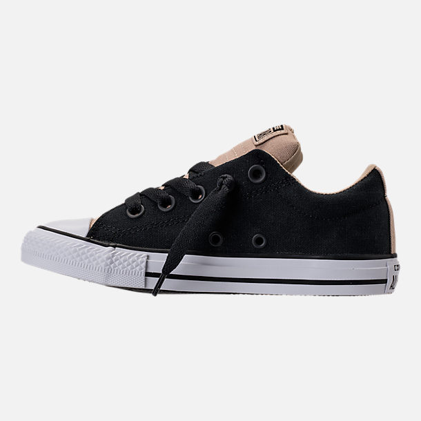 Left view of Boys' Preschool Converse Chuck Taylor All Star Street Casual Shoes in Vintage Khaki/Black/White