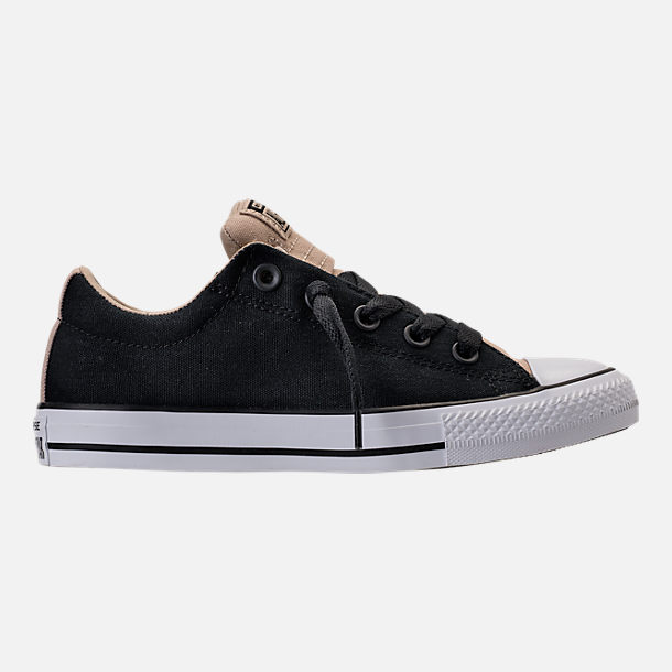 Right view of Boys' Grade School Converse Chuck Taylor All Star Street Casual Shoes in Vintage Khaki/Black/White