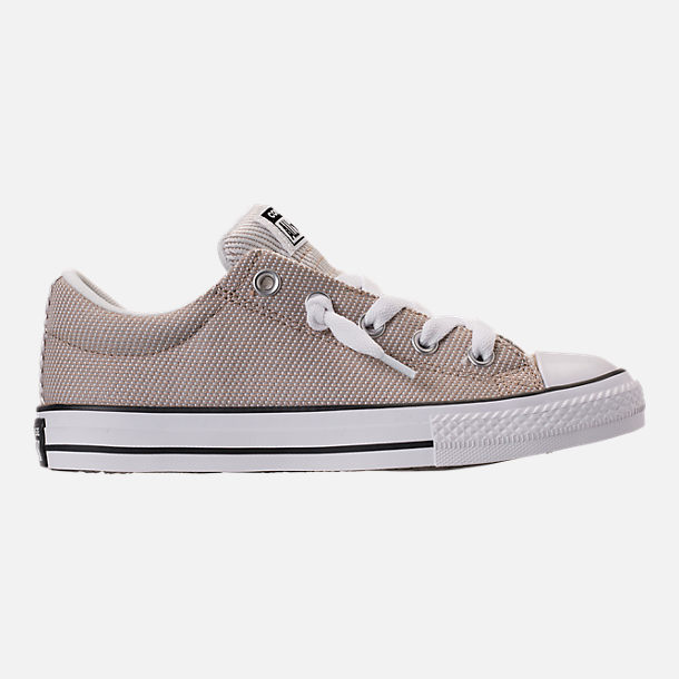 Right view of Boys' Grade School Converse Chuck Taylor All-Star Street Slip-On Casual Shoes in Vintage Khaki/Dolphin/White