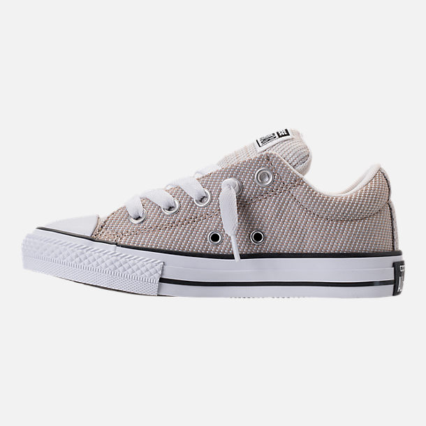 Left view of Boys' Preschool Converse Chuck Taylor High Street Ox Casual Shoes in Vintage Khaki/Dolphin/White