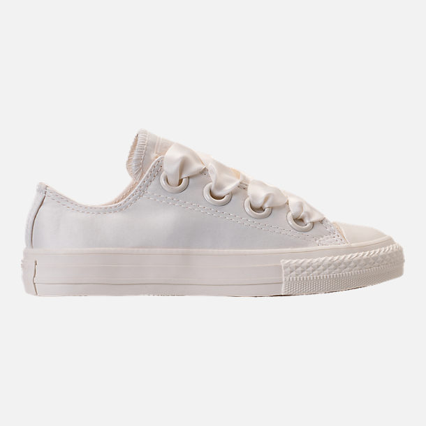 Right view of Girls' Grade School Converse Chuck Taylor All Star Big Eyelets Ox Casual Shoes in Egret Mono
