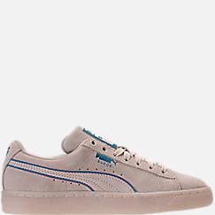 Boys' Grade School Puma Suede Foil FS Casual Shoes