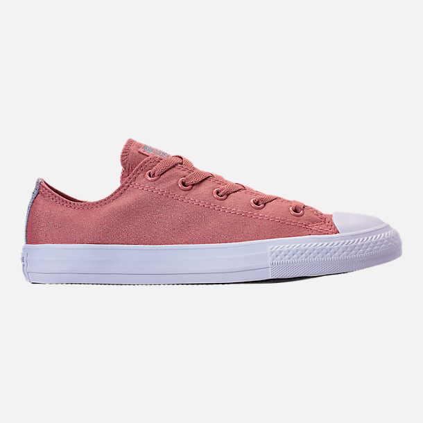 Right view of Girls' Big Kids' Converse Chuck Taylor Ox Casual Shoes in Rust Pink/White