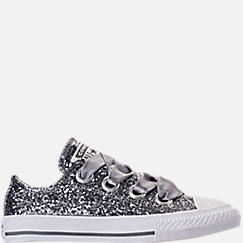 Girls' Little Kids' Converse Chuck Taylor All Star Sparkle Big Eyelets Satin Casual Shoes