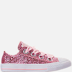 7d807d9bf1a7 Girls  Little Kids  Converse Chuck Taylor All Star Sparkle Big Eyelets  Satin Casual Shoes