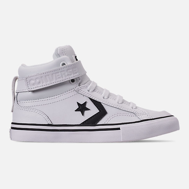 46a4c241d4e44 Right view of Boys  Little Kids  Converse Pro Blaze Strap Hi Casual Shoes in