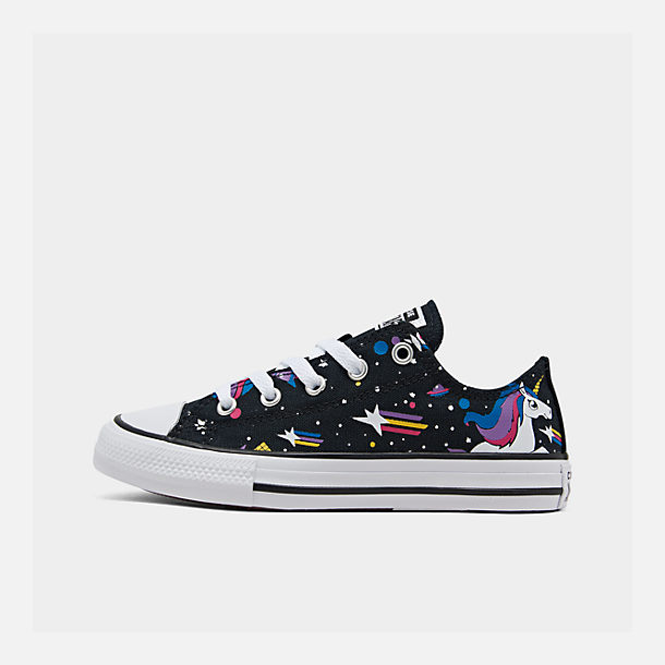 Right view of Girls' Little Kids' Converse Chuck Taylor Unicorns Low Top Casual Shoes in Black/Mod Pink/White