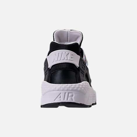 Back view of Women's Nike Air Huarache Run Premium Running Shoes in Black/Black/Vast Grey