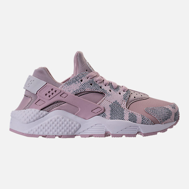 Right view of Women's Nike Air Huarache Run Premium Running Shoes in Particle Rose/Vast Grey