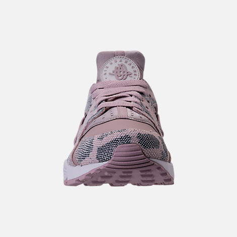 Front view of Women's Nike Air Huarache Run Premium Running Shoes in Particle Rose/Vast Grey