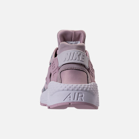 Back view of Women's Nike Air Huarache Run Premium Running Shoes in Particle Rose/Vast Grey