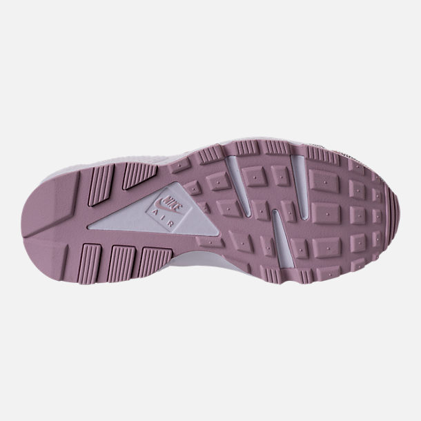 Bottom view of Women's Nike Air Huarache Run Premium Running Shoes in Particle Rose/Vast Grey