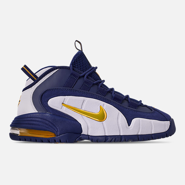 cheaper 05461 de0ac Right view of Men s Nike Air Max Penny Basketball Shoes in Deep  Royal Amarillo