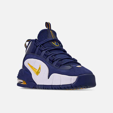 588df505247d Three Quarter view of Men s Nike Air Max Penny Basketball Shoes in Deep  Royal Amarillo