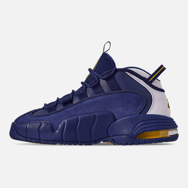 89492d4e80e1 Left view of Men s Nike Air Max Penny Basketball Shoes in Deep  Royal Amarillo