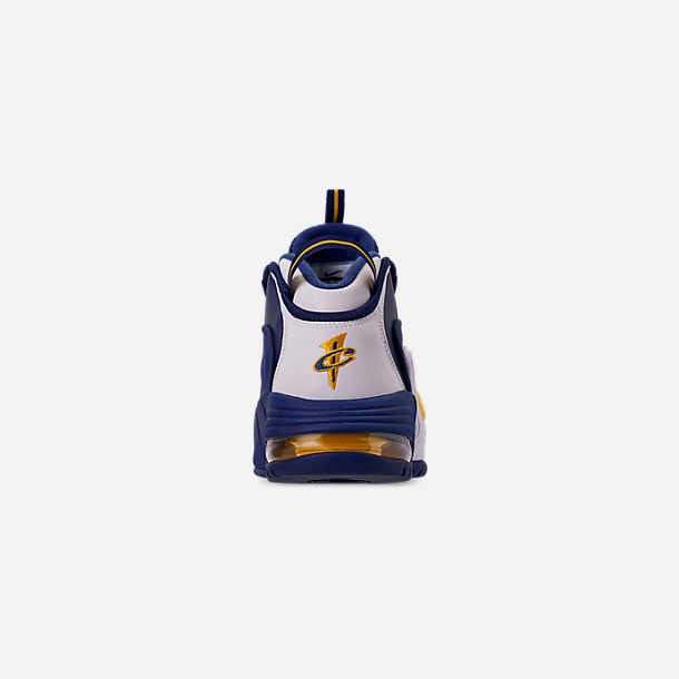 reputable site 76aae e8b30 Back view of Men s Nike Air Max Penny Basketball Shoes in Deep  Royal Amarillo