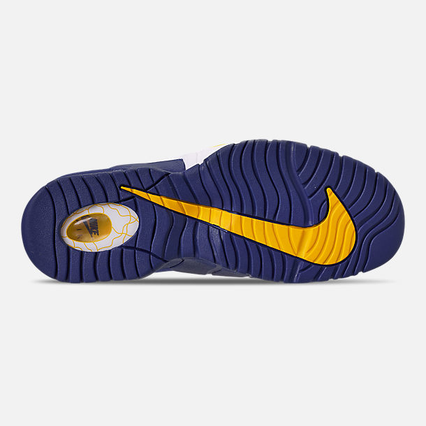 28af00995007 Bottom view of Men s Nike Air Max Penny Basketball Shoes in Deep  Royal Amarillo
