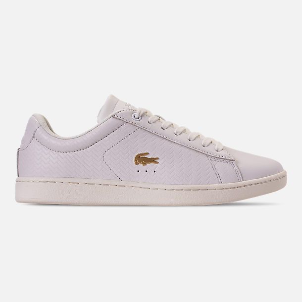 Right view of Women's Lacoste Carnaby EVO Casual Shoes in Off White/Off White