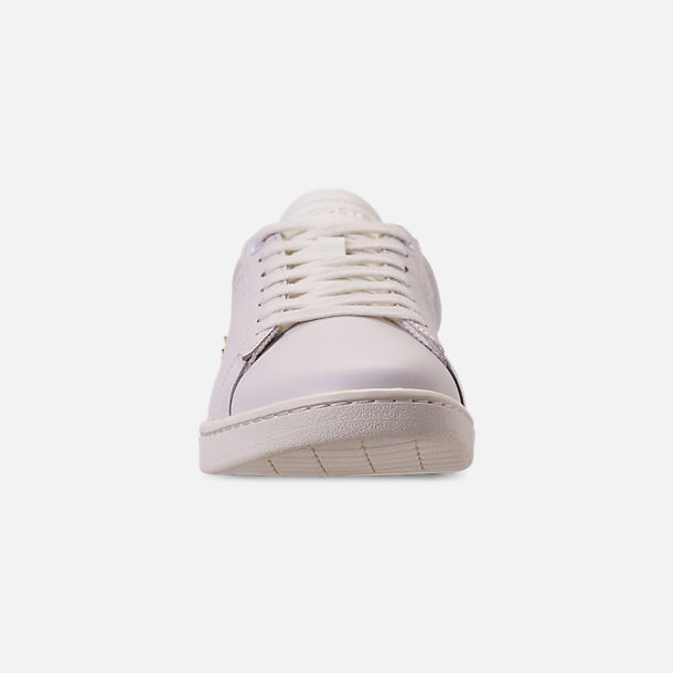 Front view of Women's Lacoste Carnaby EVO Casual Shoes in Off White/Off White