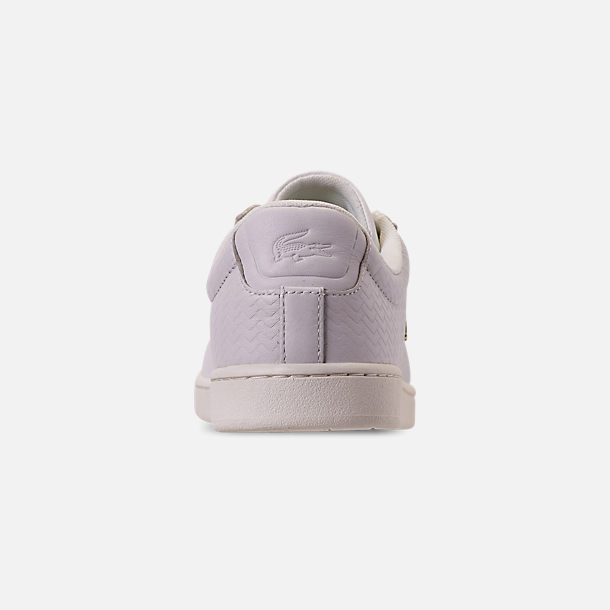 Back view of Women's Lacoste Carnaby EVO Casual Shoes in Off White/Off White