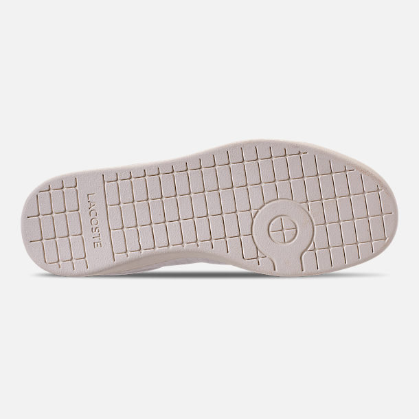 Bottom view of Women's Lacoste Carnaby EVO Casual Shoes in Off White/Off White