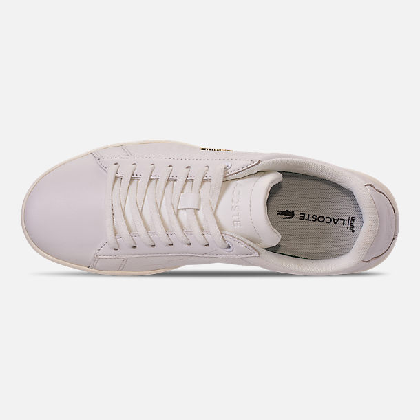 Top view of Women's Lacoste Carnaby EVO Casual Shoes in Off White/Off White