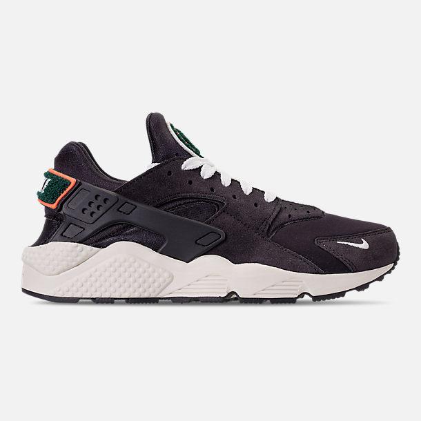 Right view of Men s Nike Air Huarache Run Premium Casual Shoes in Oil  Grey Sail 7fa5abdd671e
