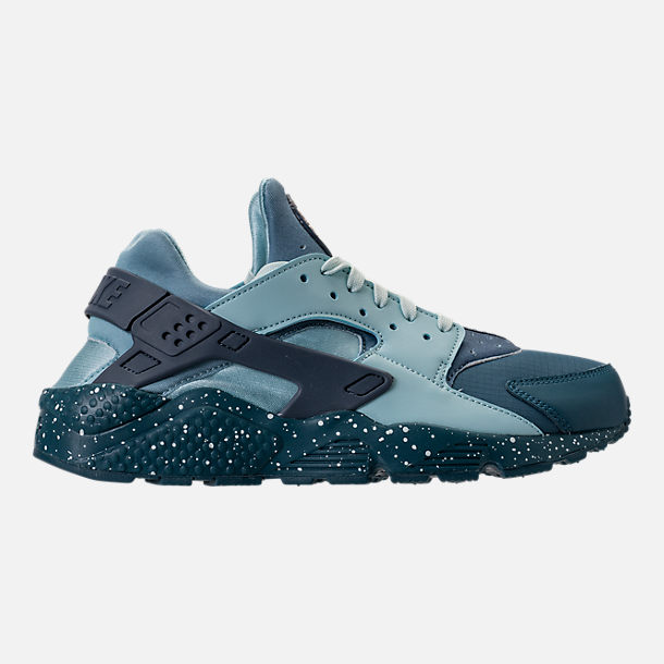 Right view of Men's Nike Air Huarache Run Premium Running Shoes in Blue Force/Diffused