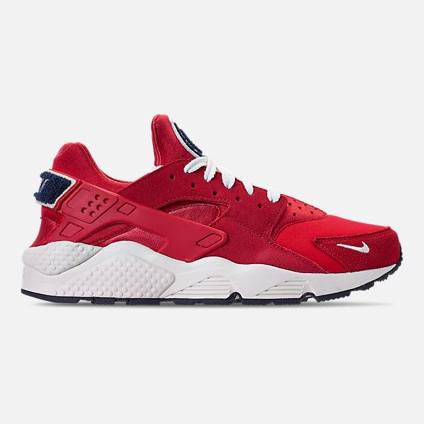 917a3546135e ... Right view of Men s Nike Air Huarache Run Premium Running Shoes in  University Red Sail ...