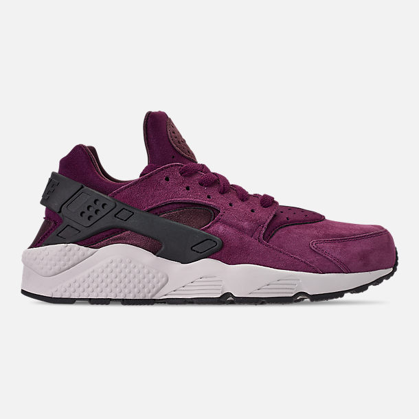 new product 6fe88 67641 Right view of Men s Nike Air Huarache Run Premium Casual Shoes in Bordeaux  Black