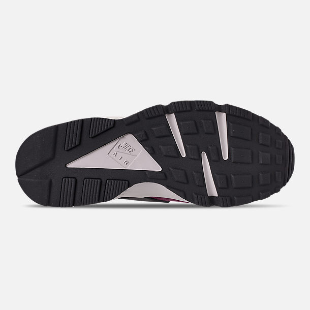 cb5c51bef6e70 Bottom view of Men's Nike Air Huarache Run Premium Casual Shoes in Bordeaux/ Black/
