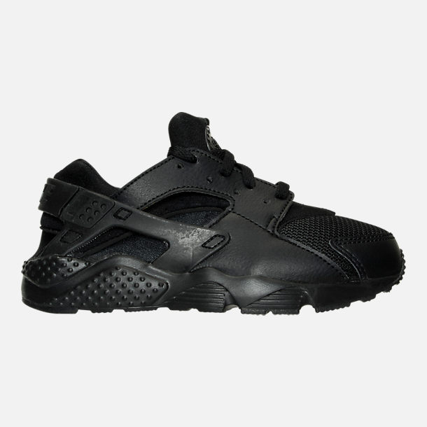 c45bee68721 Right view of Boys  Little Kids  Nike Huarache Run Casual Shoes in Black