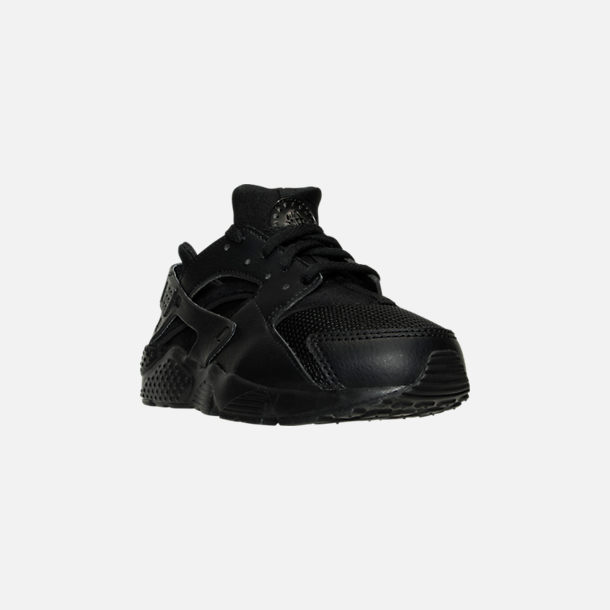 separation shoes 969f0 aadcb Three Quarter view of Boys  Little Kids  Nike Huarache Run Casual Shoes in  Black