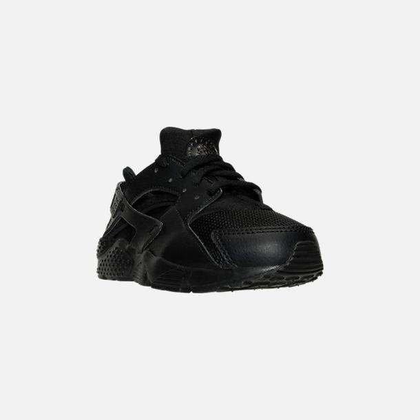 619f3d7f27ba Three Quarter view of Boys  Little Kids  Nike Huarache Run Casual Shoes in  Black