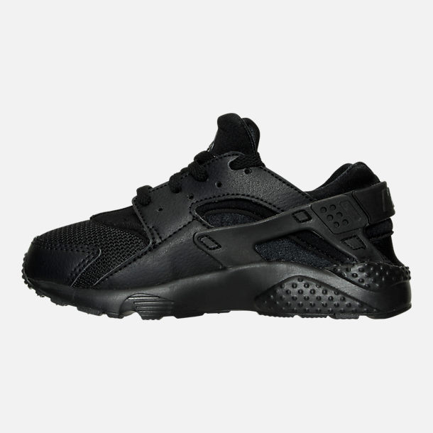 61e05428ccb Left view of Boys' Little Kids' Nike Huarache Run Casual Shoes in Black/