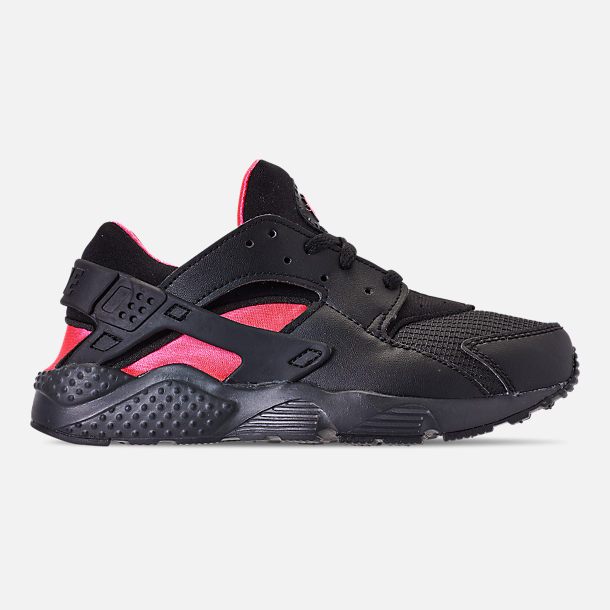 9f5145d052 Right view of Boys' Little Kids' Nike Huarache Run Casual Shoes in Black/