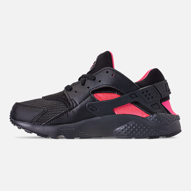 36b9491eab Left view of Boys' Little Kids' Nike Huarache Run Casual Shoes in Black/