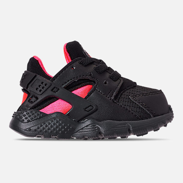 Right view of Kids' Toddler Nike Huarache Run Casual Shoes in Black/Anthracite/Solar Red