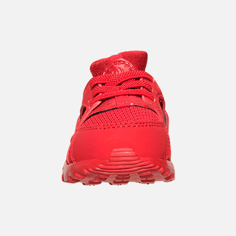 Front view of Boys' Toddler Nike Huarache Run Running Shoes in University Red/University Red