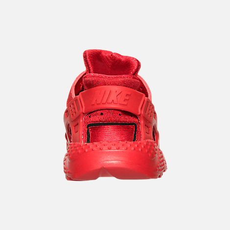 Back view of Boys' Toddler Nike Huarache Run Running Shoes in University Red/University Red