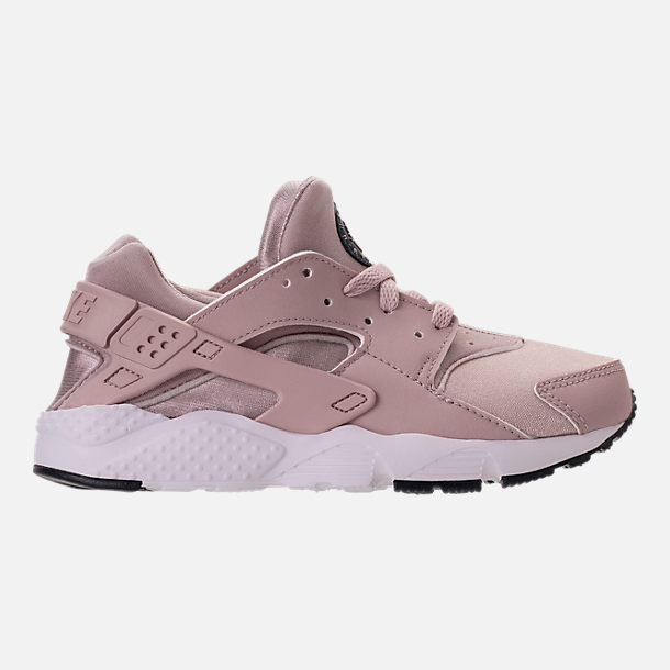 Right view of Girls' Preschool Nike Huarache Run Running Shoes in Particle Rose/Particle Rose/Thunder