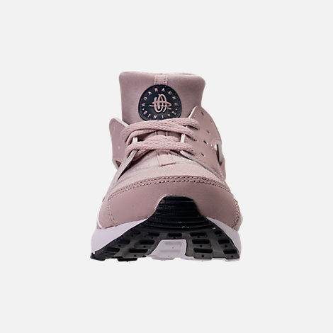Front view of Girls' Preschool Nike Huarache Run Running Shoes in Particle Rose/Particle Rose/Thunder