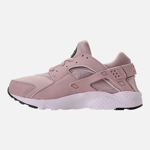 Left view of Girls' Preschool Nike Huarache Run Running Shoes in Particle Rose/Particle Rose/Thunder
